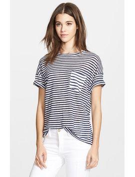 denim-le-boyfriend-stripe-linen-tee by frame