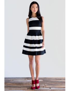 elyza-lace-striped-dress by francescas