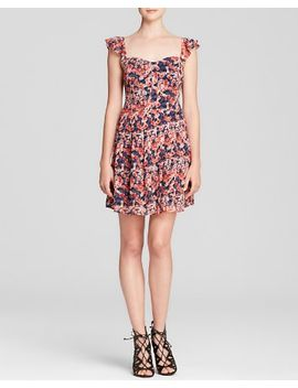 edelfina-whimsical-watercolor-floral-silk-dress by joie