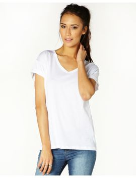 basic-rolled-sleeve-t-shirt by glassons