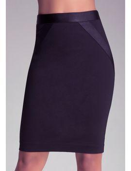 zoe-grosgrain-skirt by bebe