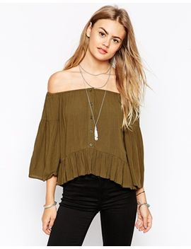 asos-off-the-shoulder-folk-top by asos-collection