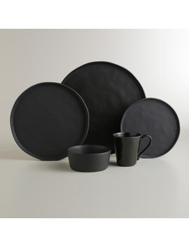 black-organic-dinnerware-collection by world-market