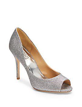 metallic-peep-toe-pumps by badgley-mischka