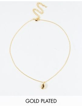 limited-edition-gold-plated-brass-coffee-bean-choker-necklace by asos-collection