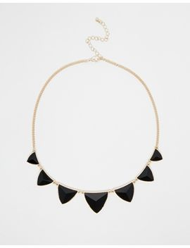 warehouse-multi-stone-fan-necklace by warehouse