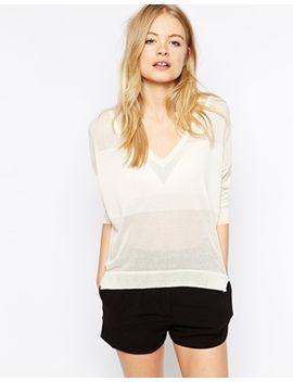 vero-moda-deep-v-neck-jumper by vero-moda