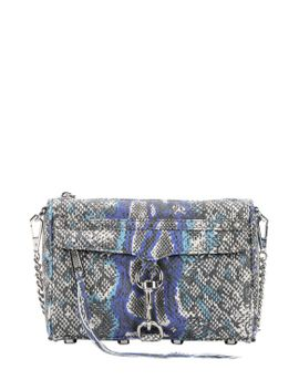 blue-and-grey-snakeskin-print-leather-mini-mac-shoulder-bag by minkoff