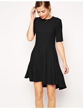 asos-dipped-hem-skater-dress by asos-collection
