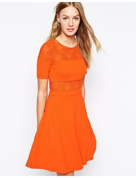 french-connection-linear-wrap-skater-dress by french-connection