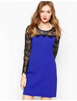 aryn-k-bodycon-dress-with-contrast-lace-sleeves by evening-dress