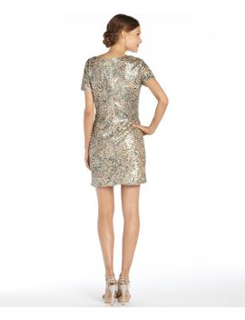 gold-woven-printed-sequin-jannis-dress by zoe