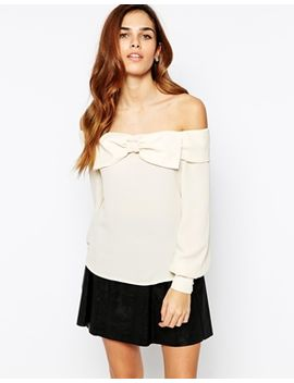 tfnc-off-shoulder-blouse-with-exaggerated-bow-detail by tfnc