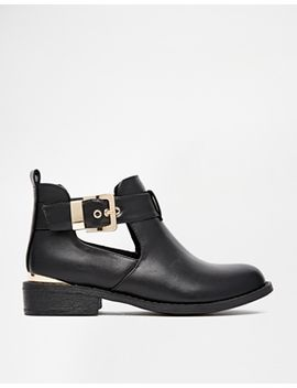 river-island-jeanie-cut-out-flat-boots by river-island