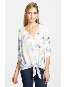 tie-front-blouse by ro-&-de