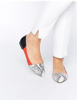 faith-aden-snake-effect-asymmetric-flat-shoes by faith