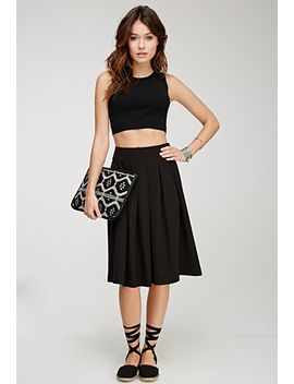 box-pleat-a-line-skirt by forever-21