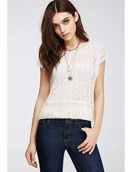tassled-lace-top by forever-21