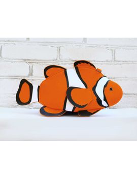 clown-fish-purse-fish-felt-bag by krukrustudio