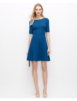 seamed-flare-dress by ann-taylor