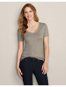 womens-favorite-short-sleeve-v-neck-t-shirt by eddie-bauer