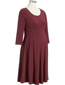 maternity-3_4-sleeved-jersey-dresses by old-navy