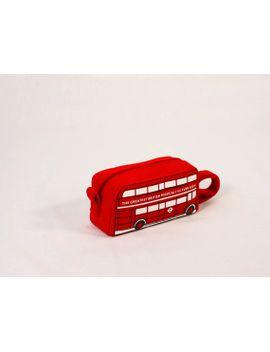london-bus-pouch-ondon-bus-cosmetic-bag by krukrustudio