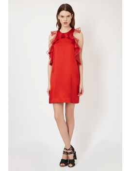 **organza-ruffle-dress-by-unique by topshop