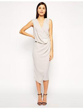 asos-wrap-drape-midi-dress by asos-collection