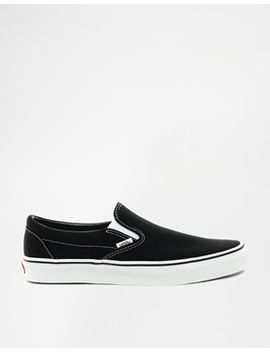 vans-classic-black-slip-on-trainers by vans