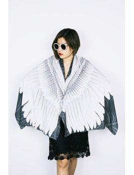 white-bird-wings-scarf-feathers-scarf,-very-comfy by volareshop