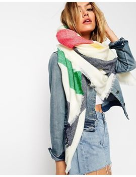 asos-oversized-scarf-in-multi-stripe by asos-collection