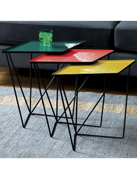 saic-paradox-nesting-tables-set-of-3 by crate&barrel