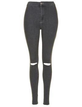 moto-grey-ripped-joni-jeans by topshop