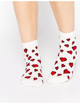 asos-ankle-socks-with-heart-design by asos-collection