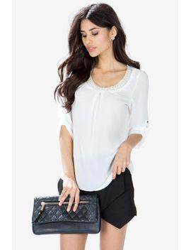pasha-pearl-trim-blouse by agaci