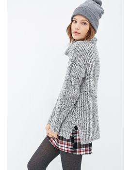 marled-cable-knit-turtleneck by forever-21