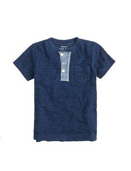boys-short-sleeve-indigo-henley by jcrew
