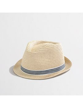 kids-ribbon-straw-fedora by jcrew