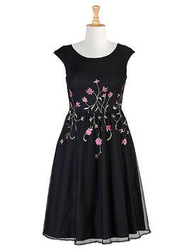 floral-embellished-tulle-dress by eshakti