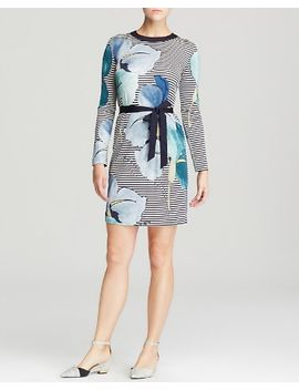 annette-tie-waist-mixed-print-silk-dress by tory-burch