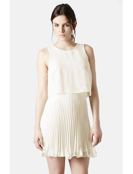 pleated-overlay-dress by topshop