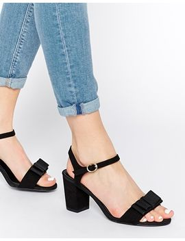 new-look-wide-fit-tie-black-barely-there-mid-heeled-sandals by new-look