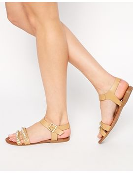 asos-fay-embellished-leather-sandals by asos-collection