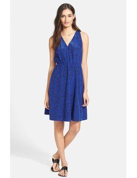 ink-dot-print-silk-blouson-dress by rebecca-taylor