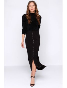 lucy-love-snapfront-black-maxi-skirt by lucy-love