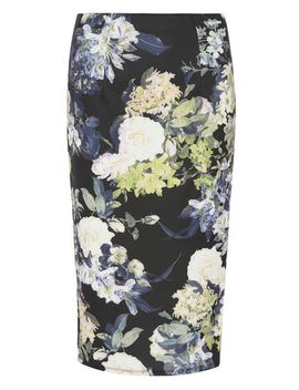 floral-scuba-pencil-skirt by dorothy-perkins