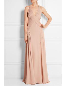 plissé-silk-georgette-gown by versace