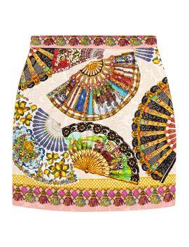 printed-matelassé-mini-skirt by dolce-&-gabbana