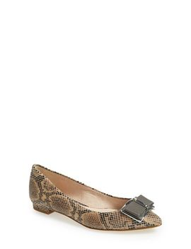 bromley-genuine-snakeskin-flat by louise-et-cie